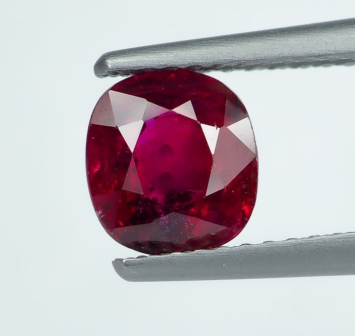 No Reserve - Red Ruby - 1.30 ct