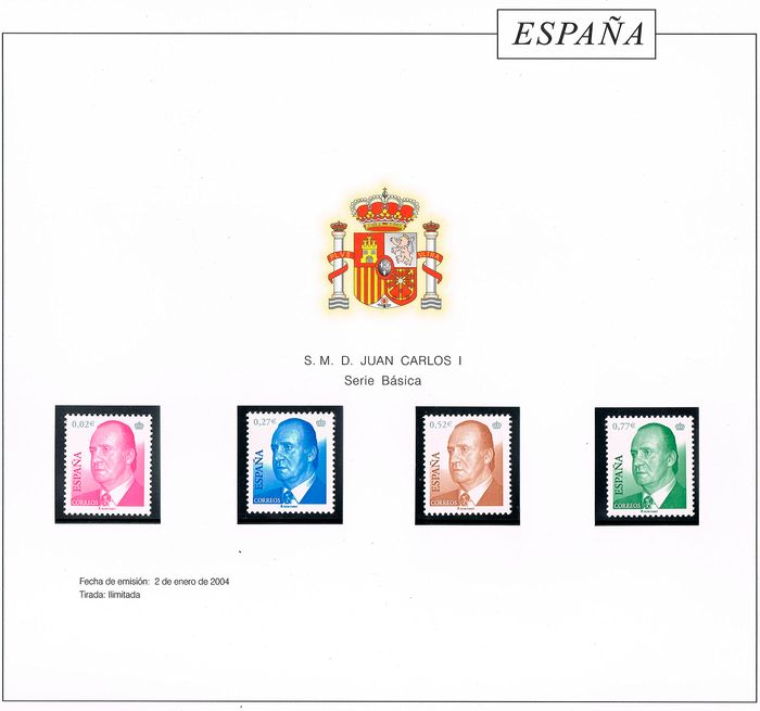 Spain 2004 - Complete year. 4087A not included. Mounted on Torres Cultural album pages - Edifil 4048/4132