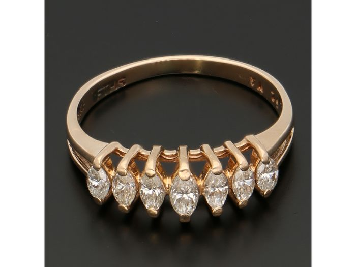 14 kt. Gold - Ring - 0.43 ct Diamond