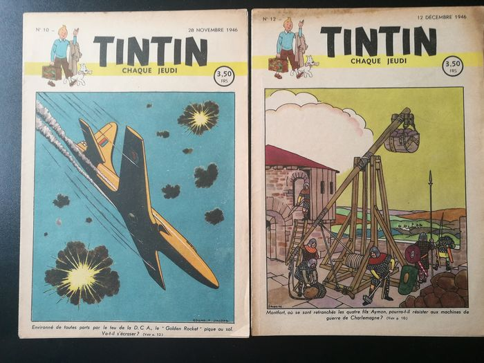 Tintin (magazine) - Le journal de Tintin 10 + 12 - EO - (1946)