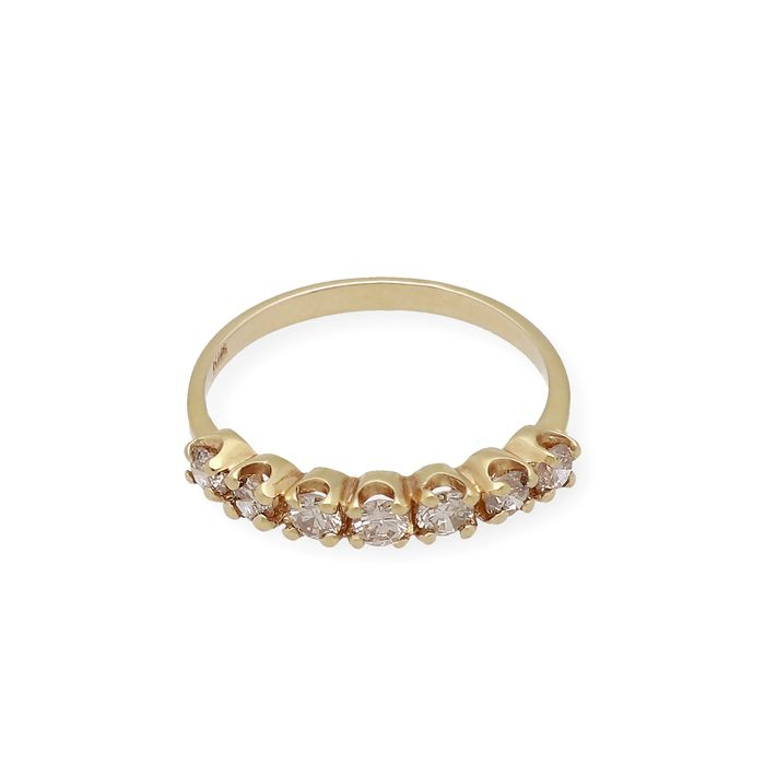 18 kt Gold, Yellow Gold - Diamond Ring