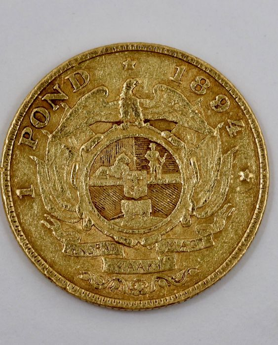 South Africa - 1 Pond 1894 - Gold