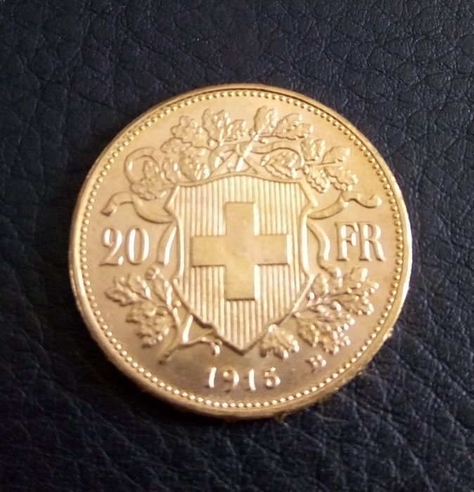 Switzerland - 20   Francs 1915-B - Gold