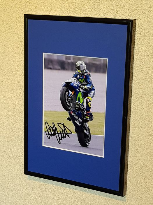 MotoGP - Valentino Rossi - hand signed framed photograph