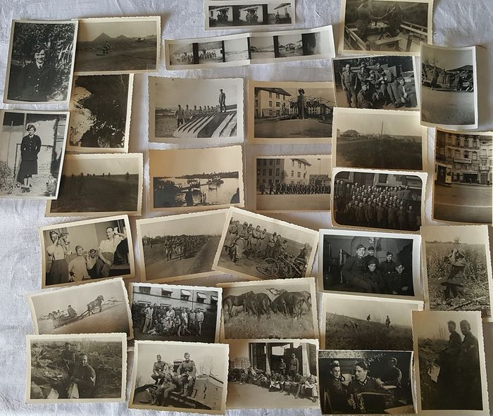Germany - Third Reich Wehrmacht Luftwaffe Photo Lot - Western Campaign, Russia - 1942