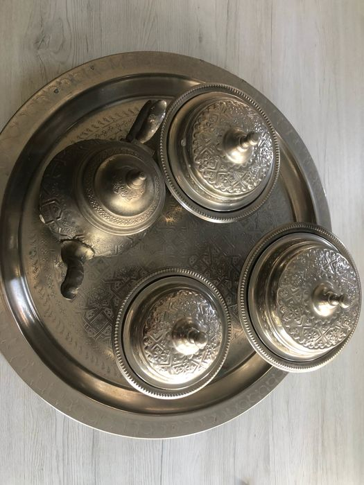 Coffee and tea service (5) - Silver laminated