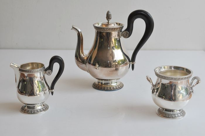 Coffee service Christofle (3) - Silverplate - France - Second half 20th century