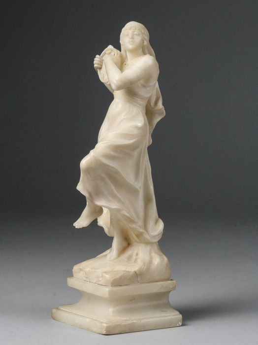 C. Cipriani - Sculpture, Female Dancer with tambourine - Alabaster - Early 20th century