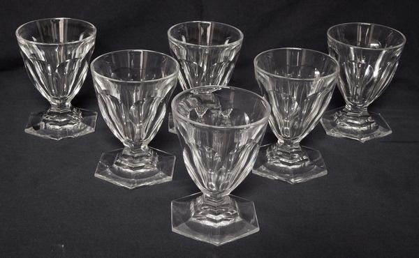 Baccarat - 6 Water glasses, model Bourbon Harcourt - 11,2cm - signed - Crystal