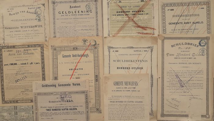 10x municipal loans for 1900 - Paper