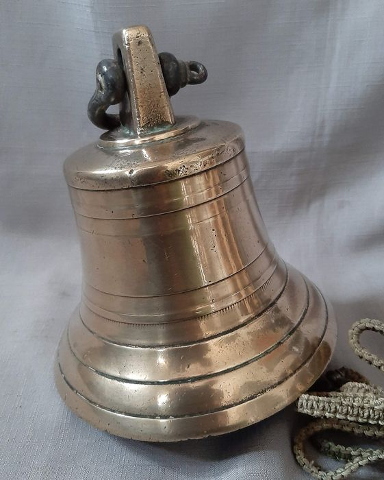 Old heavy ship bell with beautiful patina - Brass, Copper - mid 20th century