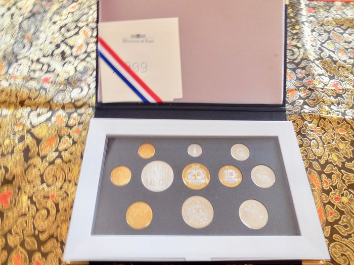 France - Monnaie de Paris - Coffret BE 1999 (11 monnaies)