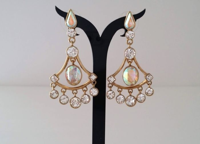 Givenchy Swarovski Crystal Chandelier Earrings