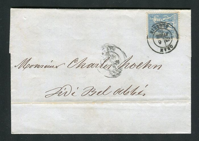 Frankrijk 1878 - Rare letter from Oran bound for Sidi Bel Abbes (Algeria - North Africa)
