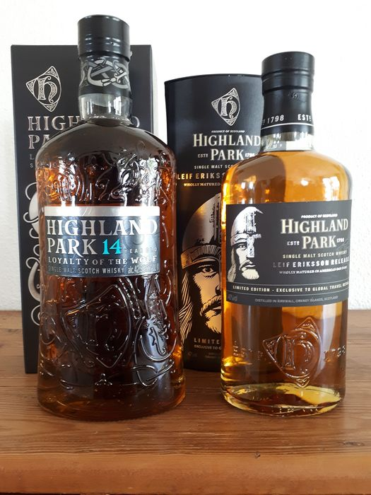 Highland Park Loyalty of the Wolf 14 years & Leif Eriksson Limited Edition - 100cl & 70cl - 2 botellas