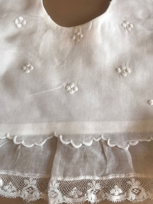 Old collar for chiffon and lace baby dress. - Gauze. Fine lace in the contour.