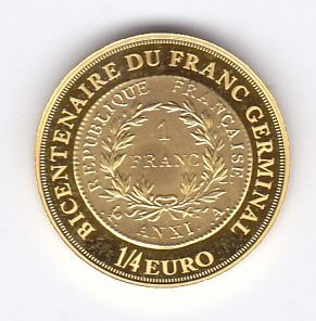 France - 1/4 euro 2003 - Gold