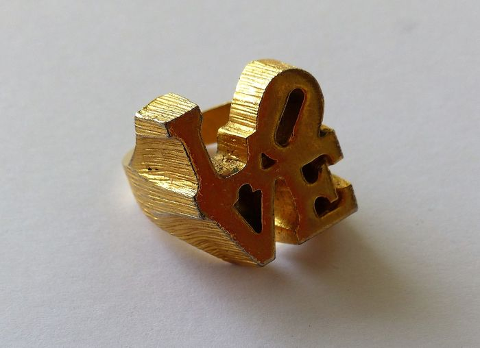 Robert Indiana & Charles Revson - The Love Ring ( édition 1970 )