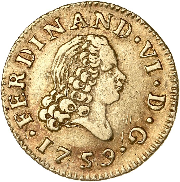 Spain - 1/2 Escudo 1759 Madrid - Ferdinand VI - Gold