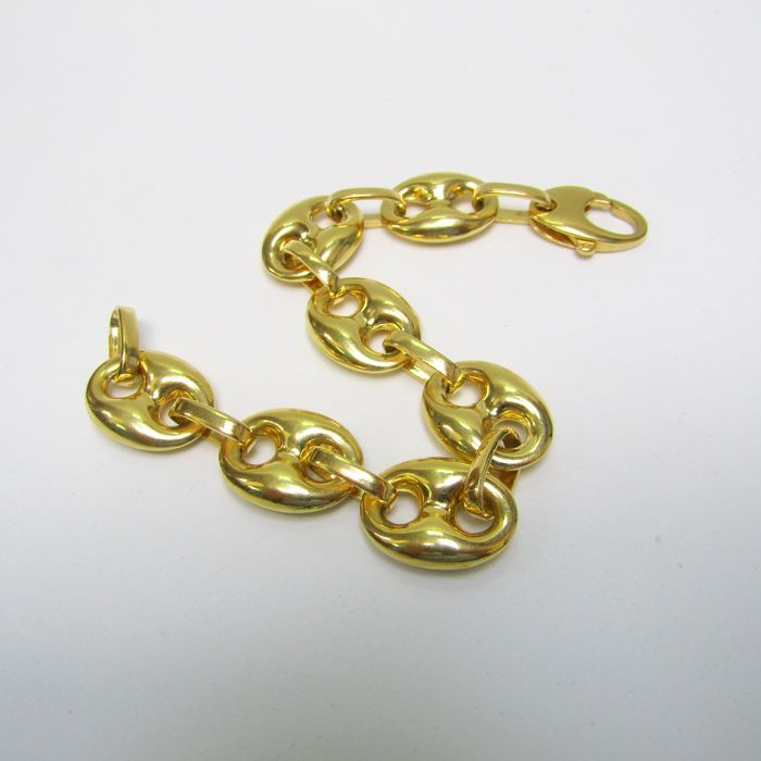 18 kt. Yellow gold - Calabrote bracelet. 20 x 1.7 cm 30.75 gr.