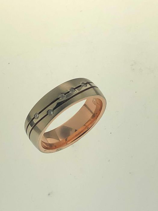 Aller Spanninga - 14 kt. Gold - Ring Diamond