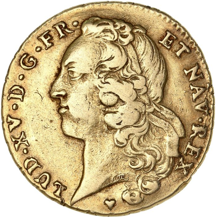 France - Louis XV - Double Louis d'or 1748-BB (Strasbourg) - Gold