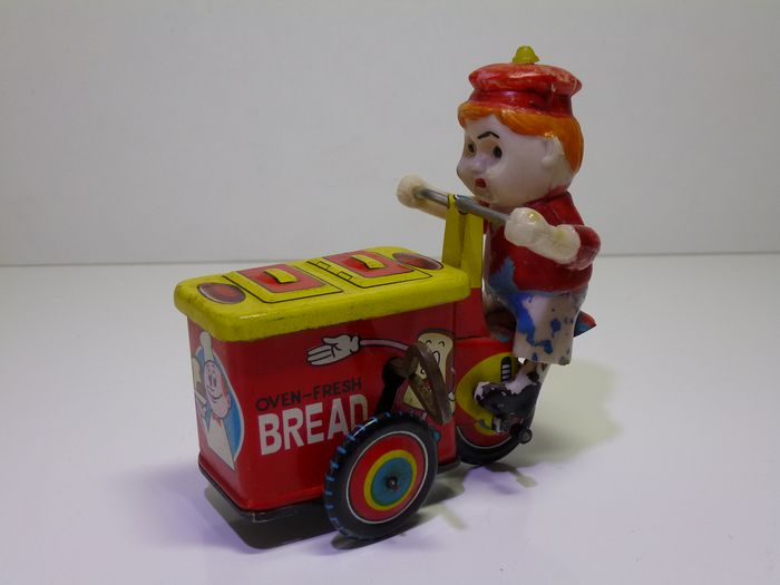 Unknown - Figure Bakery / Bakkers Bakfiets, clockwork - 1960-1969 - Japan ?