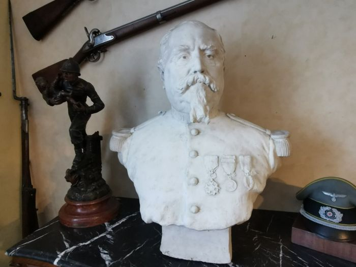 Sculpture, Bust of Colonel Peyron 1870 - Plaster - Second half 19th century