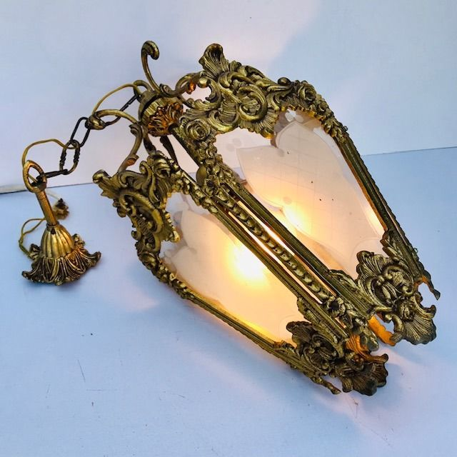Italian bronze gilted Crystal luster - Bronze, Crystal, Gilt