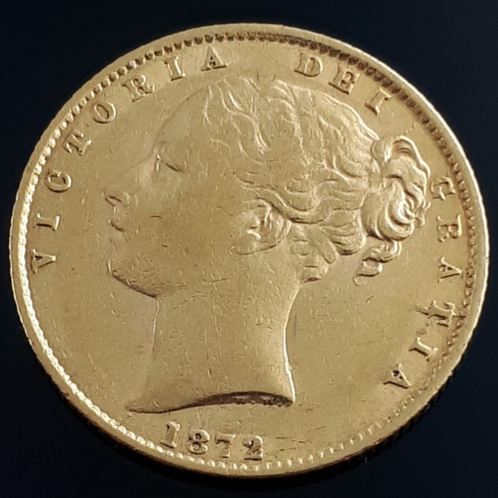 Australia - 1 Sovereign - 1872 Victoria - Gold