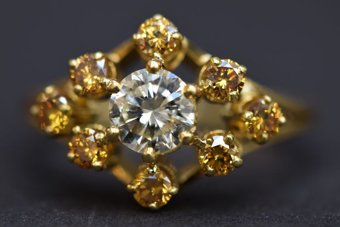 18 kt Gold - Ring - 0.50 ct Diamant - Diamanten