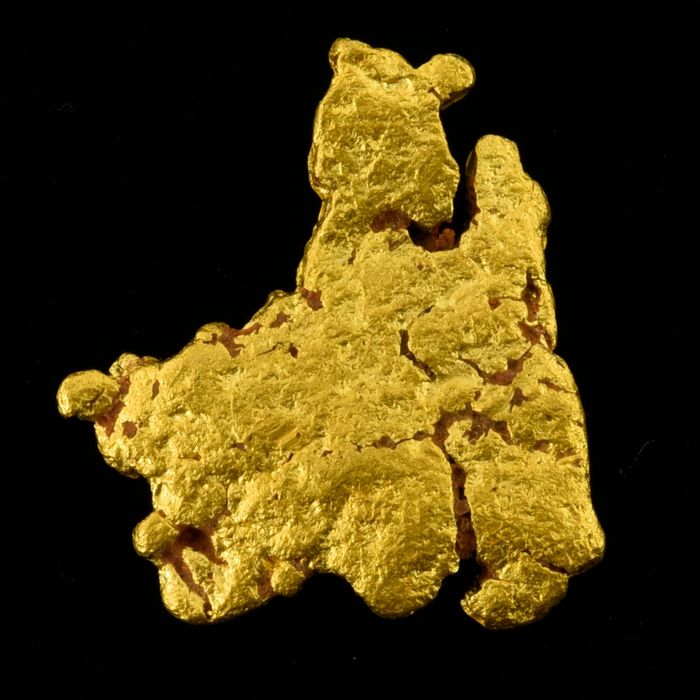 Gold Nugget - 16.9×14.4×2.2 mm - 2.862 g