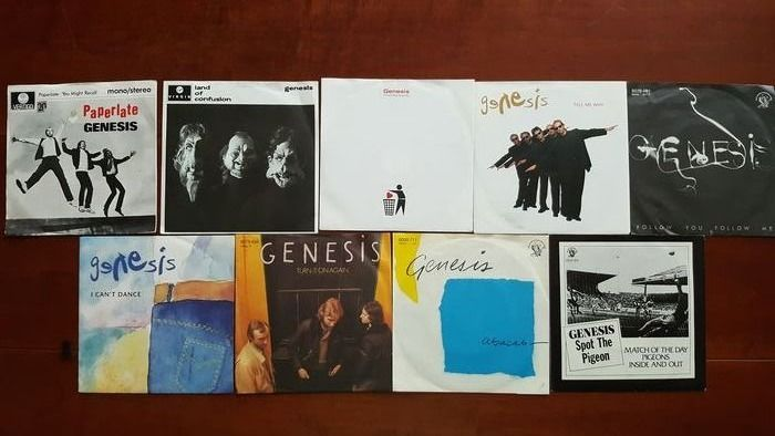 "Genesis - Career overview 9 x 7"" singles  - Multiple titles - 45 rpm Single - 1977/1991"