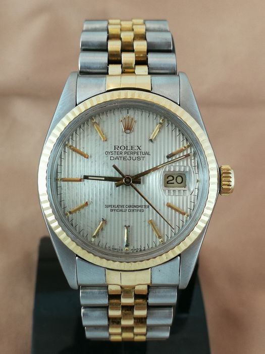 Rolex - Datejust - Tapestry Dial - Gold/Steel - 16013 - Men - 1980-1989