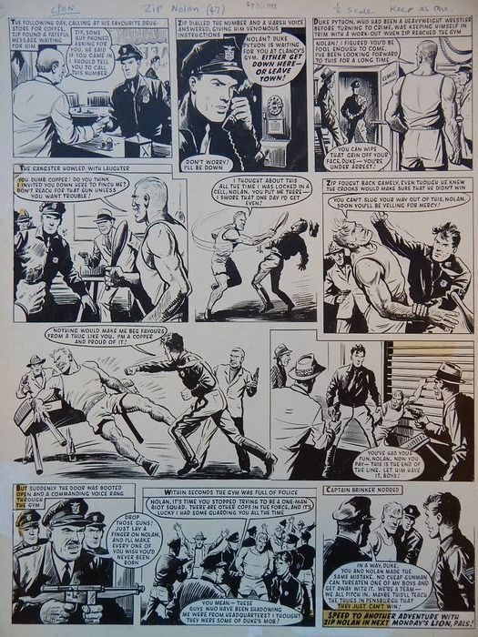 Bunn, Reg - Originele pagina (p.4275) - Zip Nolan - On scenario by Jerry Siegel (Superman) - (1963)