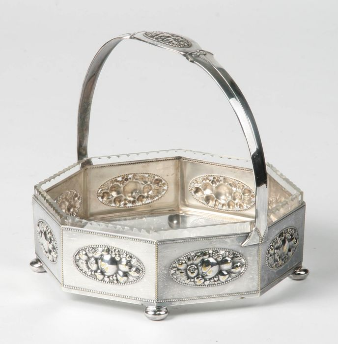 WMF - fruit basket - silver plated, crystal
