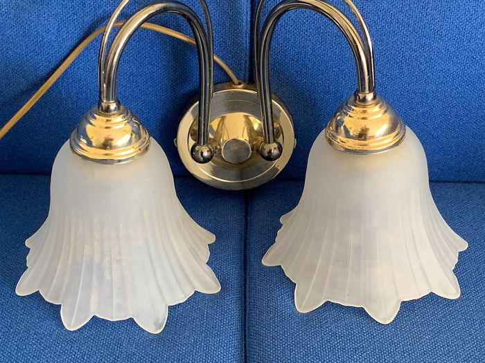 Solid - Double wall lamp - copper and frosted glass