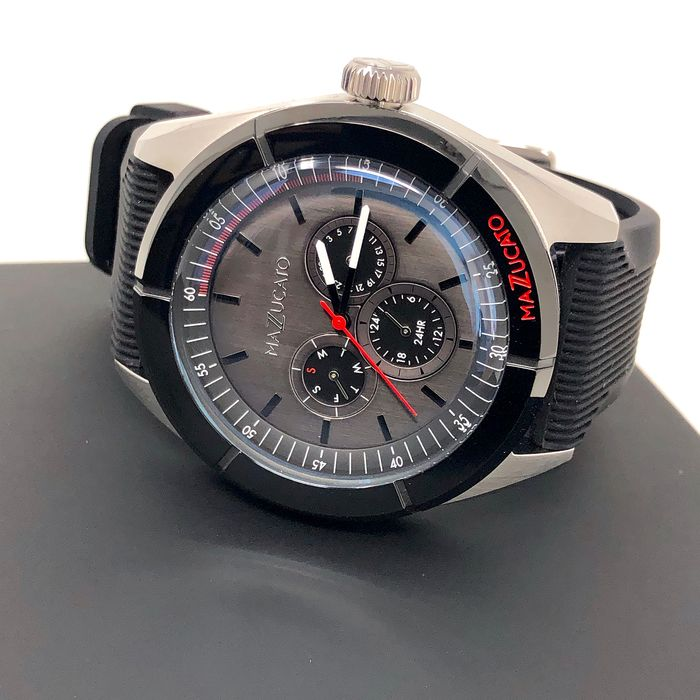 "Mazzucato - Ego Calendar Black Customisable with 3 Straps and 3 Cases - E.G.O.002SILVERDD ""NO RESERVE PRICE"" - Men - Brand New"