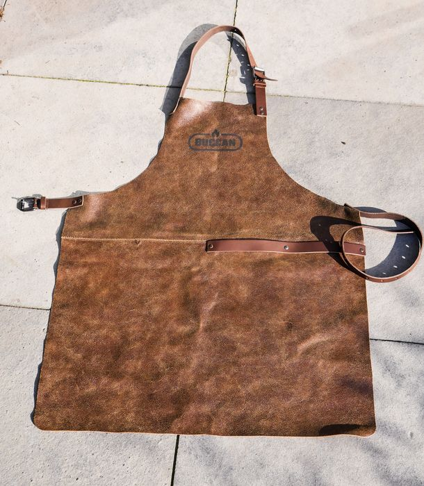 2 X Chef Kitchen BBQ Aprons - leather