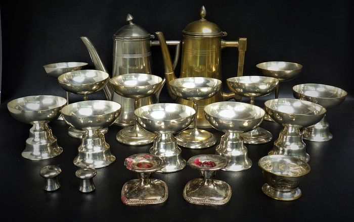 wiskemann - hotel silver, sundaes etc ... (19) - Art Deco - Silver plated metal