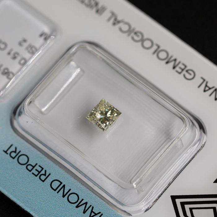 Diamant - 0.51 ct - Prinses - M - SI2, IGI Antwerp