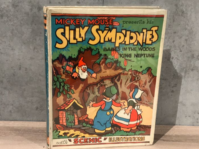 Disney - Silly Symphonies - Babes in the Woods / King Neptune - Hardcover - First edition - (1933)