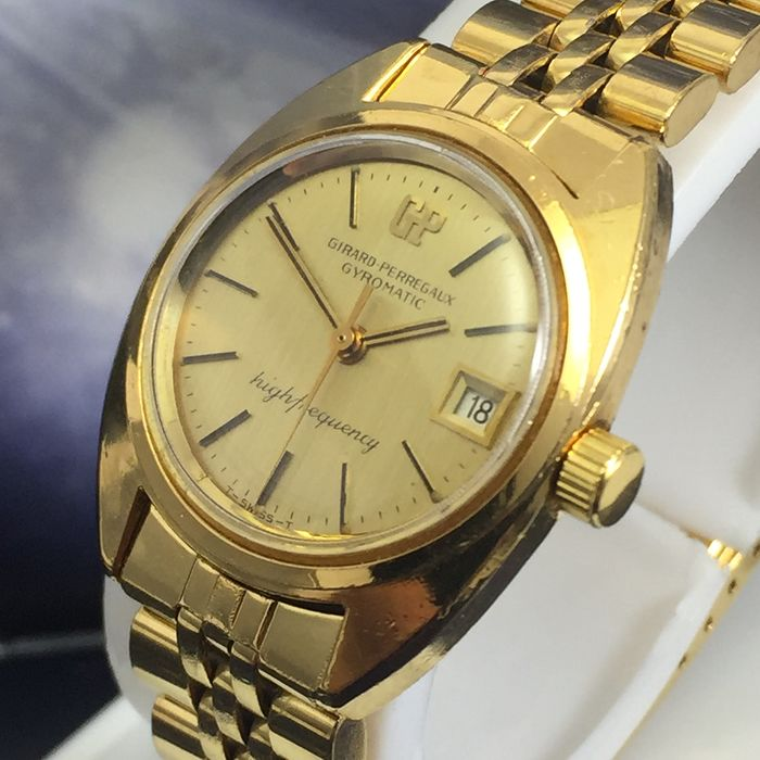 """Girard-Perregaux - Gyromatic Higtfrequency """"NO RESERVE PRICE"""" - Dames - 1980-1989"""