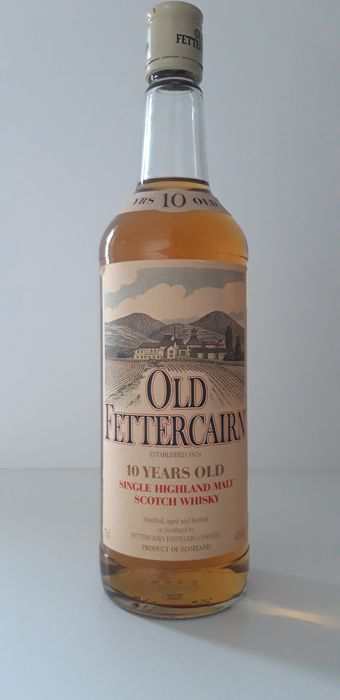 Fettercairn 10 years old - Original bottling - b. Década de 1980 - 75 cl