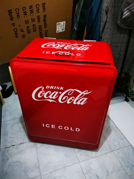 50s coca cola icebox (1) - Iron (cast/wrought)