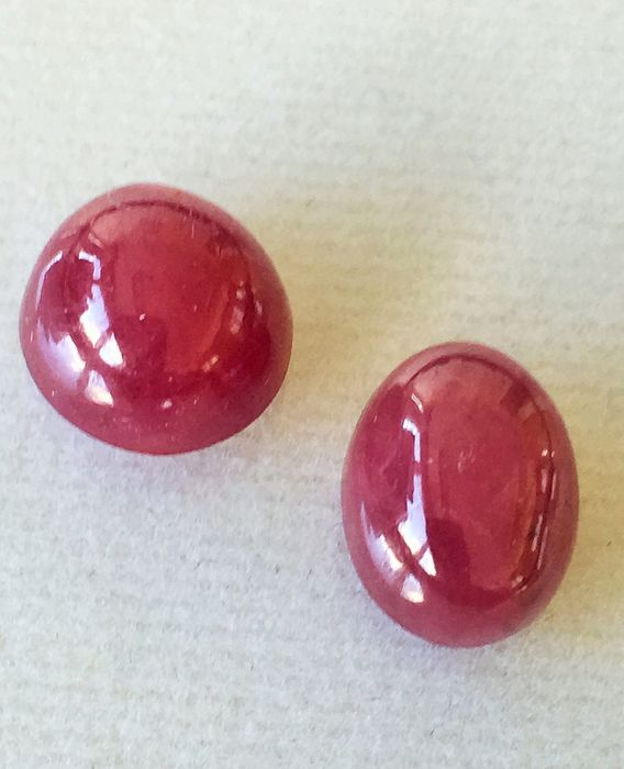 2 pcs Red Ruby - 9.51 ct