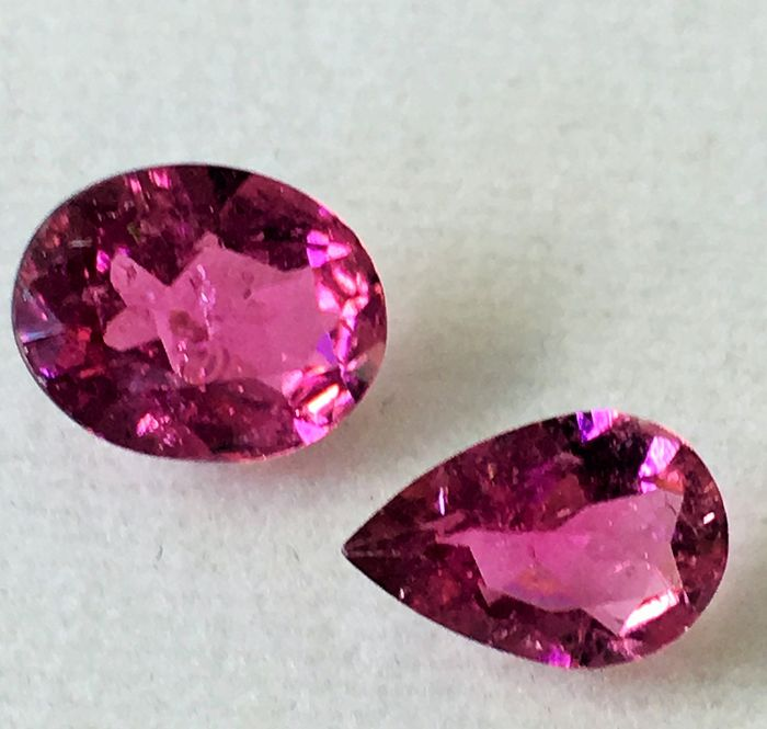 2 pcs Pink Tourmaline - 2.63 ct