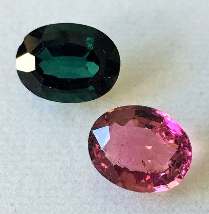 Pink & Green Tourmaline - 4.38 ct