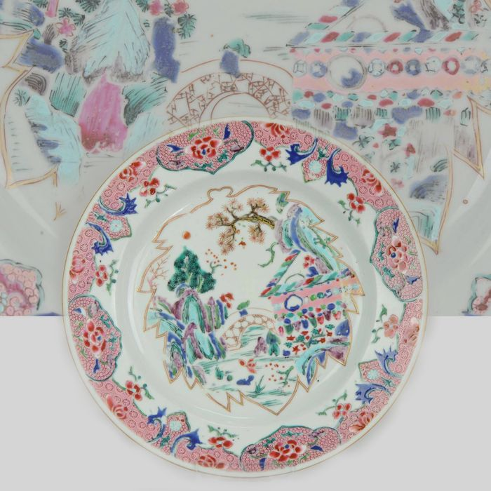 Assiette - Famille rose - Porcelaine - Top Level Plate  - Chine - Yongzheng (1723–1735)