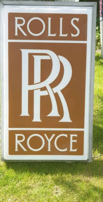Beschilderung - Rolls-Royce - Rare - Large Rolls Royce illuminated Dealership Sign - 1970-1980